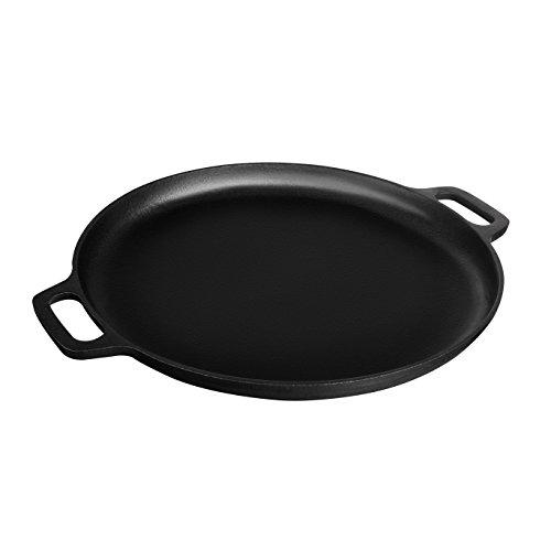 FuKiPro Funky Kitchen Products gusseiserne Pizzapfanne - 35 cm Durchmesser - Geeignet für Alle Herdarten - 3,5kg Schwer