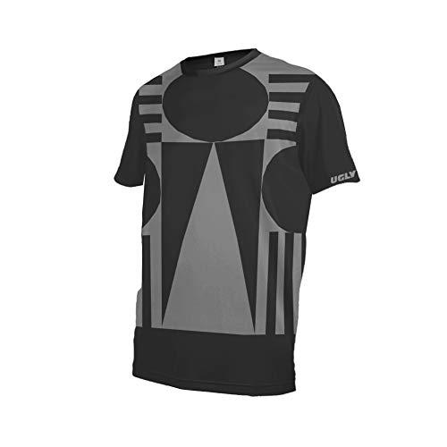 Uglyfrog Ciclismo Uomo,MTB/Downhill Jersey MX Manica Corta Mountain Bike da Corsa Auto e Moto Abbigliamento Protettivo Shirt SJFX07M
