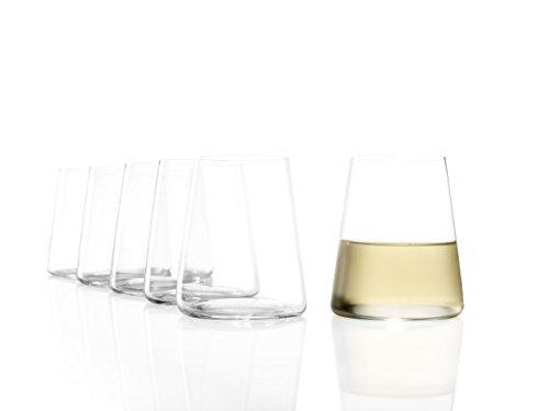 Stölzle Lausitz Power Weinbecher klein 380 ml, 6er Set Weißwein Becher, spülmaschinenfest, bleifreies Kristallglas, hochwertige Qualität, elegant und bruchbeständig