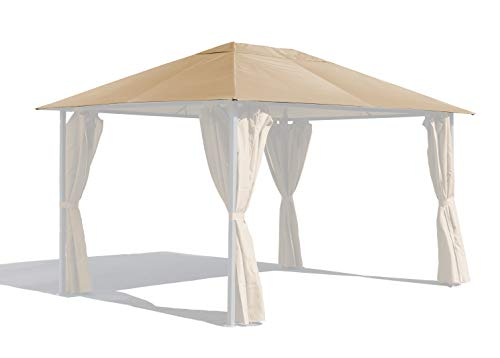 GRASEKAMP Qualität seit 1972 Ersatzdach 3x4m Gartenpavillon Nizza Sand Pavillon Partyzelt