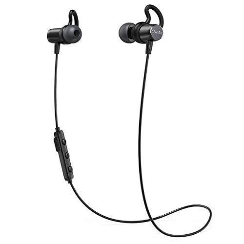 Anker SoundBuds Surge Bluetooth Kopfhörer, in Ear magnetischer Kopfhörer mit 6-Stunden-Spielzeit/Wasserschutzklasse IPX4/Mikrofon für iPhone, iPad, Samsung, Nexus, HTC und mehr thumbnail