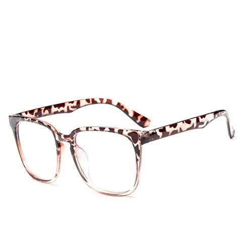 XCYQ Brillengestell Quadratische Weibliche Brillen Brille Großen Rahmen Brillen Frauen Nerd Klare Gläser