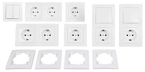 color blanco Interruptor de Cambio McPower Flair 2/capas 250/V ~//10/A UP