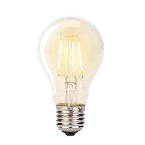 Edison Vintage Lampe - Gusspower Vintage Edison Birne, Warm Licht Glühlampen Antike Beleuchtung Glühbirne, Smooth Braunglas Shell mit Käfig Glühfaden - E27, 220 Volt, 45 Watt (A60)