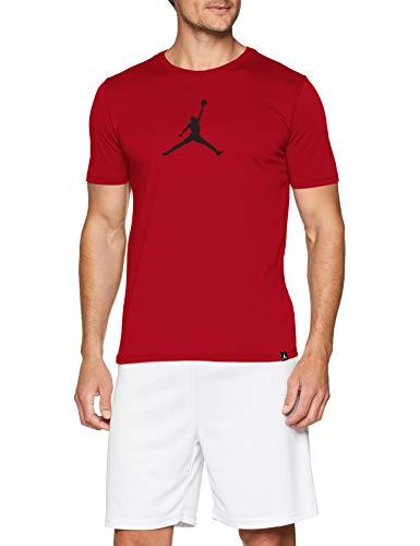 Nike m jmtc tee 23/7 jump t-shirt a maniche corte, nessun genere, gym rosso/nero, xl