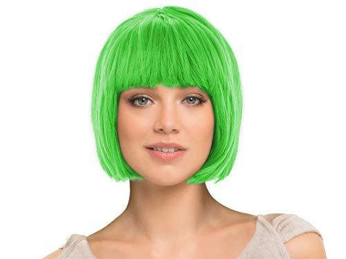 Parrucca da donna per carnevale di vari colori, taglio corto bob, taglia unica per donne adulte stile elegante classica comoda confortevole da indossare bellissima fashion lifestyle, corto verde