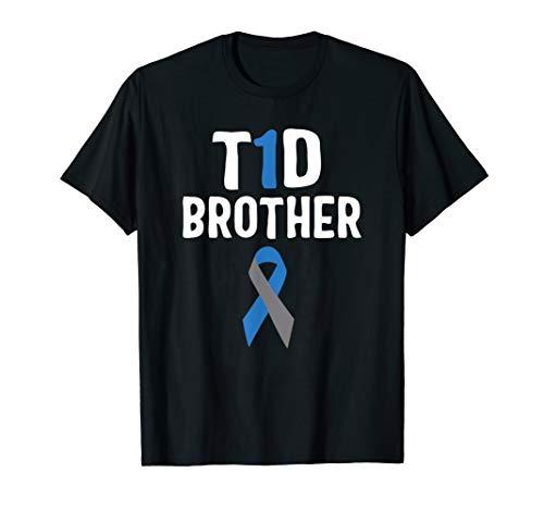 T1D Brother Diabetes Awareness Type 1 Insulin Pancreas T-Shirt