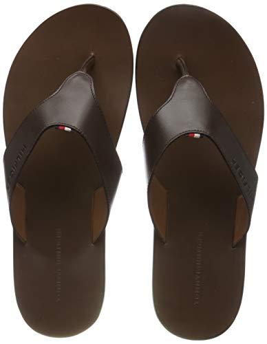 Tommy Hilfiger Hilfiger Leather Sandal, Infradito Uomo, Marrone (Coffee Bean 212), 41 EU