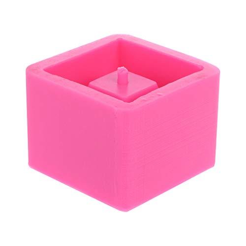 3D Craft Moule en silicone pour pot de fleurs en forme de cube pour béton
