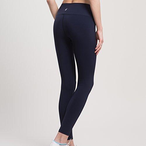 VFUN Legging de Sport Pantalon de Yoga Femme Basique avec Coupe Ajustée Bleu Marine