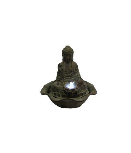 Magnifique fontaine d'intérieur buddha fontaine avec éclairage raumbefeuchter