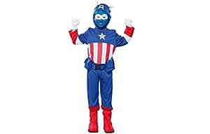 Fyasa 706190-t01disfraz de Capitán, azul, tamaño mediano