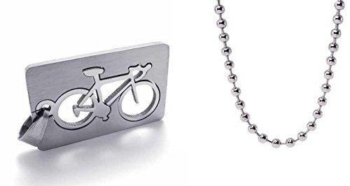 veuer joyas acero inoxidable hombre mujer Collar de cadena, bicicleta de carreras, atletas regalo de Navidad para EHE de muñeco o EHE de mujer/Amigo o Freundin/Hombres y Mujeres