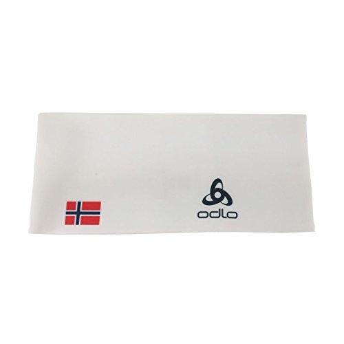 Odlo Headband Competition Fan WARM Stirnband, White - Norwegian Flag