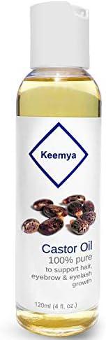 Keemya Castor Oil 120ml (4 oz) Pure For Hair, Eyebrows & Eyelashes | زيت ال