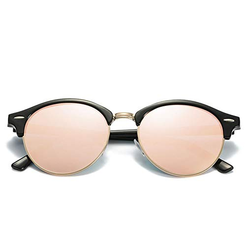 sijiaqi Unisex SonnenbrilleNew Polarized Sunglasses Mens Womens Runde Brille Sonnenbrille Fahren Semi Rimless,Style 4