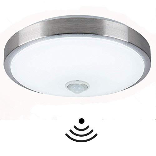 LED Deckenlampe mit Bewegungsmelder, Deckenleuchte mit Kaltweiß, 18W, 1600 Lumen, Ø35 cm,IP44 Außenbeleuchtung, Balkon, Innenbeleuchtung