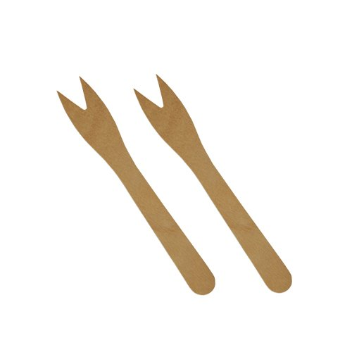 Papstar Snack – Fourchettes/pickser en Bois (12 cm – 5000 Pièces) Neutre au goût
