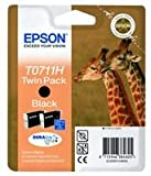 INK CARTRIDGE,T0711H HICAP TWIN PACK C13T07114H10 By EPSON