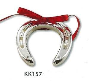 Ferro di cavallo portafortuna argento kikke cm7x6,5 laminato argento made in italy
