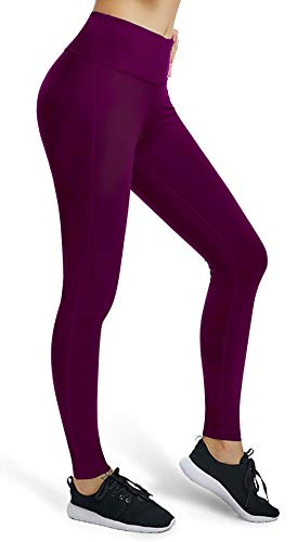 VUTRU Damen Workout Leggings Bauchkontrolle Yoga Laufhose Kompressionshose, Damen, Basic-Purple, Medium -
