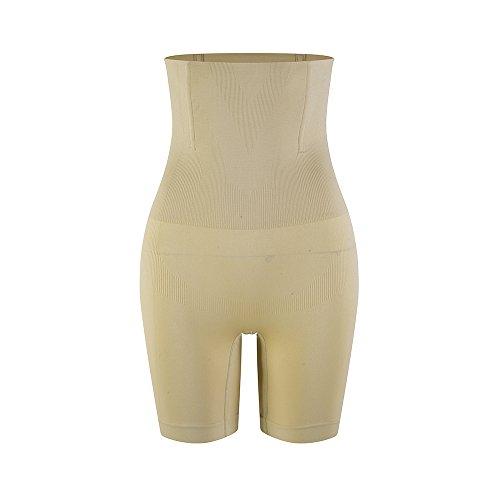 Gazelle Kostüm - Amazingjoys Damen Miederpants Miederslip Figurenformend mit Bauch-Weg-Effekt Formt Sofort, Beige, Fits Wasit 69-78cm