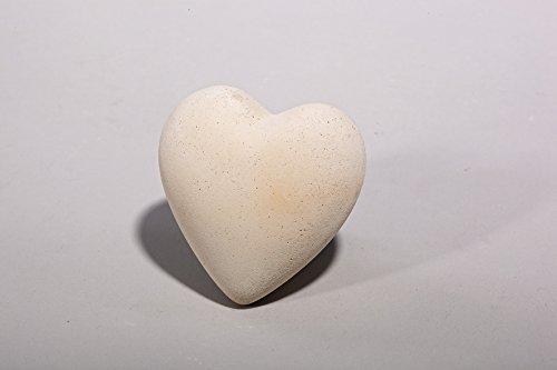 Herz - Handarbeit in Sandsteinoptik - 6,5 x 6,5 x 4,5 cm