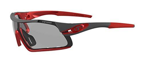 Tifosi Davos Fototec Lens Sonnenbrille, Race Red/Clarion, Einheitsgröße