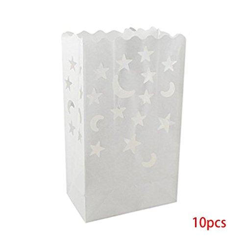 Gankmachine 10pcs Papierlaterne-Beutel-Tee-Licht-Kerze-Halter für Heim Romantische Hochzeit Dekoration 3#