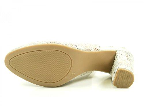 Caprice 9-29602-28 Schuhe Damen Sling Pumps Sandalen Silber