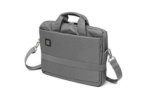 Moleskine ID Kollektion Horizontaler Messenger Bag mit Schultergurt (Gerätetasche für PC, Tablet, Notebook, Laptop und iPad bis 13'' - Maße 35 x 9,5 x 27 cm) schiefergrau