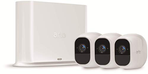 Arlo Pro2 Smart Home Security Cameras | Alarm | Rechargeable | Night Vision | Indoor/Outdoor | 1080p | 2-Way Audio | Free Cloud Storage Included | 3 Camera Kit | VMS4330P