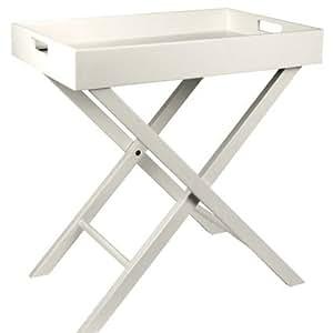 grand plateau en bois sur pieds treteaux pour petit dejeuner au lit ou tele support piable. Black Bedroom Furniture Sets. Home Design Ideas