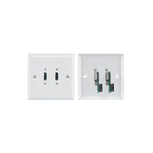 AVLink 2x HDMI Wall Plate-Weiß - Standard Wall Plate Flush Mount