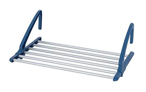 WENKO Teleskop Balkonwäschetrockner Alu - Universal Heizkörper- und Balkonwäschetrockner, ausziehbar, 57-106 x 21 x 37,5 cm, silber matt