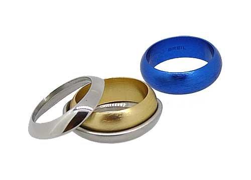 Breil anello da donna tj1187 in acciaio inossidabile, color argento, blu, oro