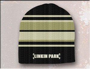LINKIN PARK Black/W/Tan Stripes Beanie (Black Stripe Beanie)