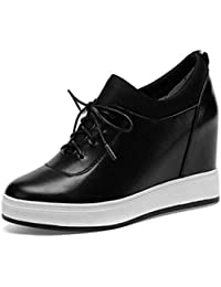 low priced d3dbf 0cf53 ZHZNVX Chaussures Femme Nappa Cuir Printemps Eté Confort Baskets à Talon  Compensé Bout Fermé Blanc