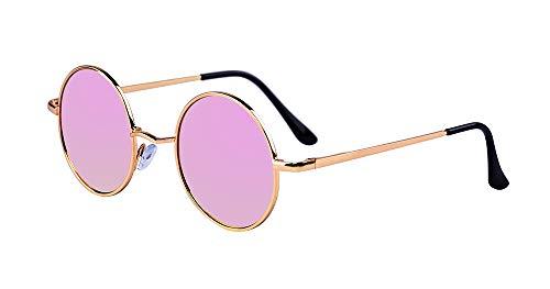 ge Sonnenbrille Lennon Runde Sonnenbrille HD Nachtsicht Polarisierte Autofahren Brille mit UV Schutz für Alle Außenaktivität ()