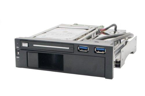 Syba SY-MRA55006 Tray Less Rack for Hard Drives (Black/White)
