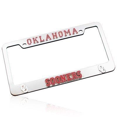 University of Oklahoma Sooners 3D Chrome License Plate Frame