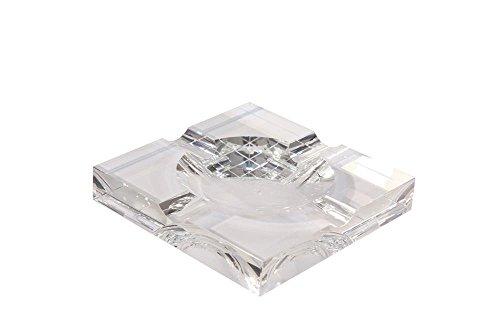 Orleans Gruppe cr-91Vier Zigarre Kristall Aschenbecher, quadratisch