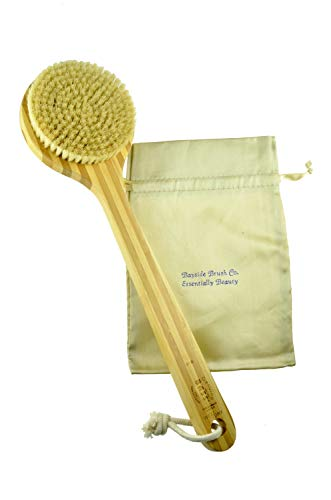 Brush - Vegetable Bristle Dry Skin Body Brush One Piece Wood Firm Bass Brushes 1 by Bass Brushes