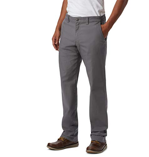 Columbia Herren Flex ROC Pant Wanderhose, City Grey, 50W / 32L -