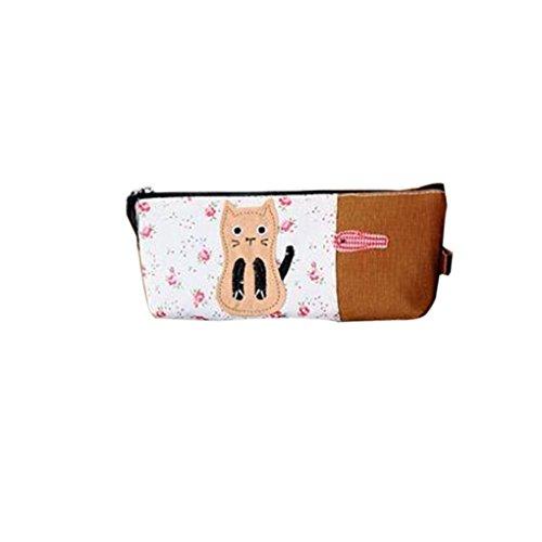 Katzen-Muster Tragbare Mini-Tasche-Feder-Kasten-Bleistift-Kasten-Beutel für Studenten - Mini-bleistift-kasten