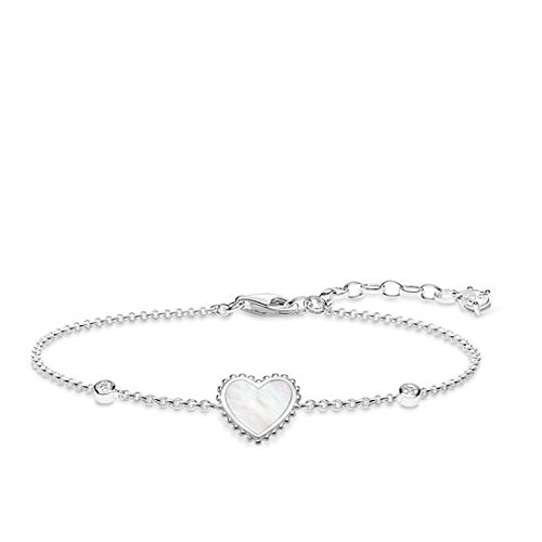 Thomas Sabo Damen-Armband Herz Glam & Soul 925 Sterling Silber Länge von 16 bis 19 cm A1765-030-14-L19v