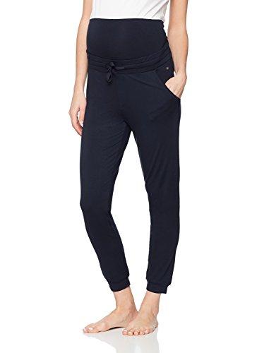 ESPRIT Maternity Damen Umstandsschlafanzughose Pants Jersey OTB, Blau (Night Blue 486), 40 (Herstellergröße: L)