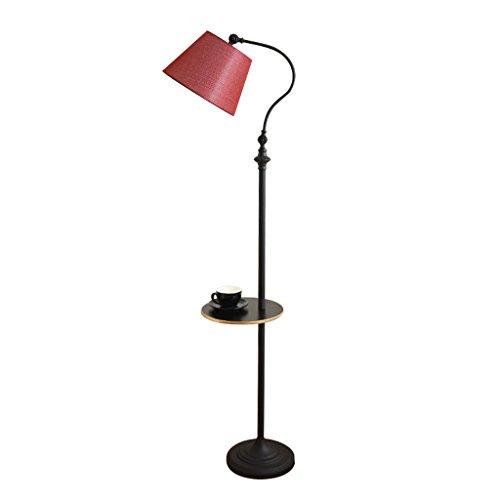Home mall- Eisen Stehlampe | Moderne minimalistische Stil Stehlampe mit Eisen Tablett | für Wohnzimmer Schlafzimmer Arbeitszimmer 30X160cm (Farbe : Rot) -