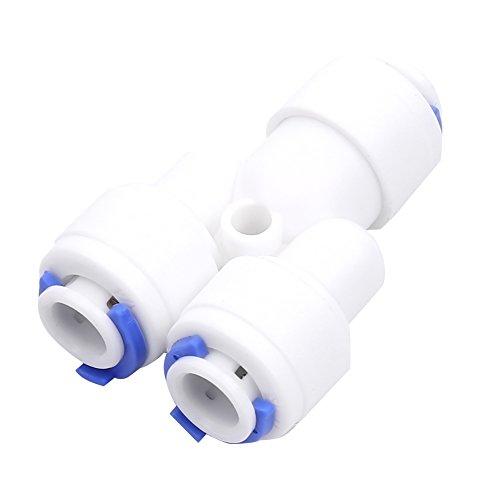 1/10,2 cm BSP Y-shape Joint Raccord de tuyau de connexion Push Fit raccords Coude Réducteur Tee Wye pour l'eau Aquarium 2.00 wattsW, 1.00 voltsV
