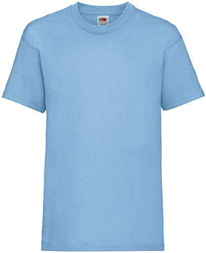 KINDER T-SHIRT FRUIT OF THE LOOM VALUE 128 140 152 164 98,sky blue